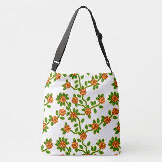 Blanc #1 floral de grand sac fourre-tout
