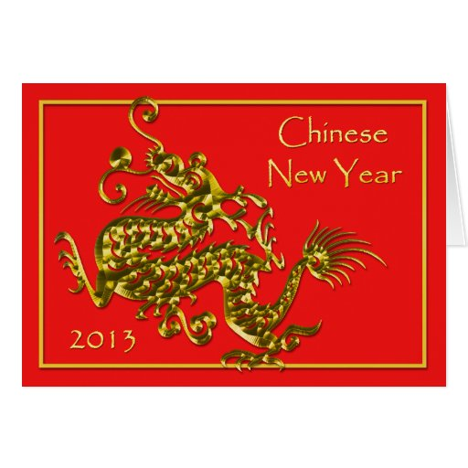 Blanc 2013 de salutation chinois de dragon de nouv cartes de vœux