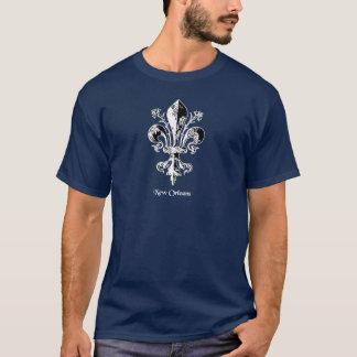 Blanc antique de la Nouvelle-Orléans Fleur de lis T-shirt