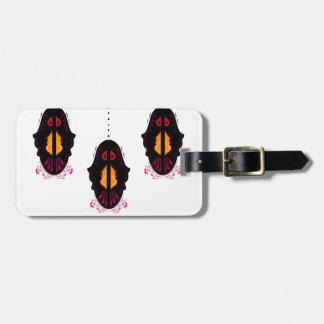 Blanc arabe de luxe de noir de mandalas étiquette à bagage