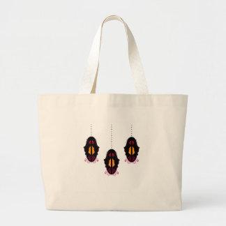 Blanc arabe de luxe de noir de mandalas grand sac