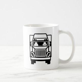 Blanc avant du noir n de camion mug