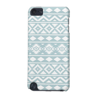 Blanc aztèque de Ptn III d'essence sur le bleu Coque iPod Touch 5G