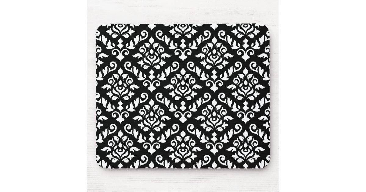 Blanc baroque de motif de damass sur le noir tapis de for Surface minimum bureau afnor