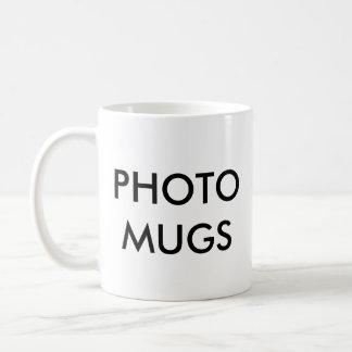 Blanc blanc de tasse de photo personnalisé par