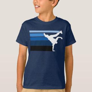 Blanc bleu de gradient de BBOY T-shirt