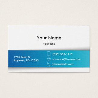 Blanc bleu d'entreprise moderne cartes de visite