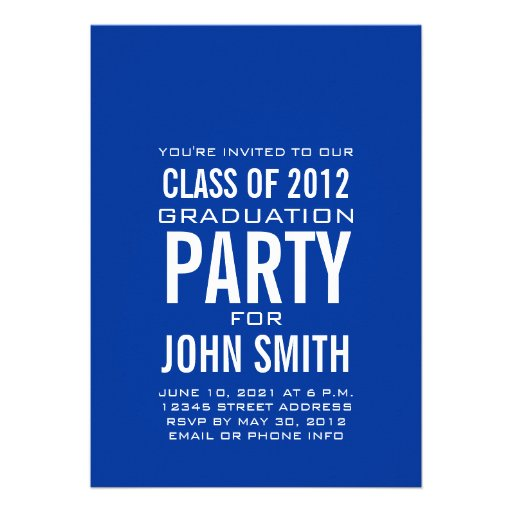 Blanc bleu d'invitation moderne de fête de remise