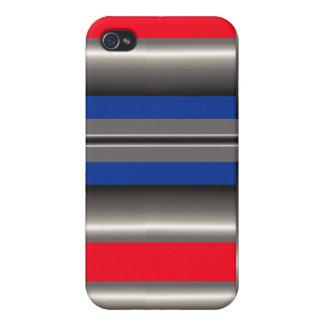Blanc bleu rouge étui iPhone 4