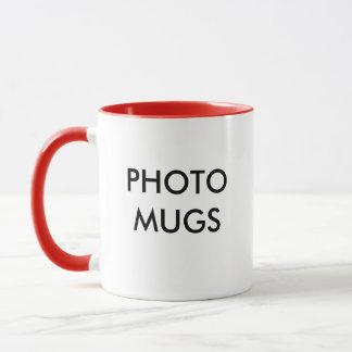 Blanc combiné de tasse de photo personnalisé par