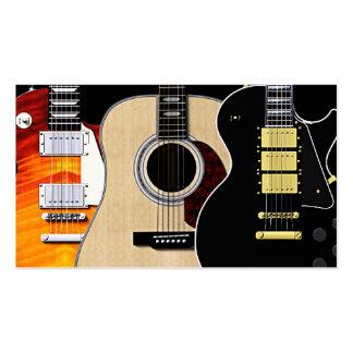 Blanc de 3 guitares carte de visite standard