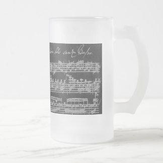 Blanc de Bach Partita sur le noir Frosted Glass Beer Mug