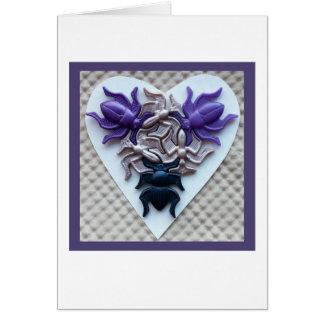 Blanc de carte de coeur d'insecte