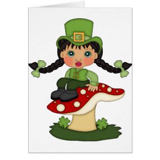 Blanc de carte de lutin du jour de St Patrick à