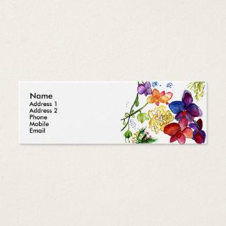 Blanc de carte de profil d'amusement d'orchidée