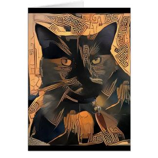 Blanc de carte de voeux de chat de Grec-Style à