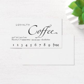Blanc de carte perforée de café de fidélité avec