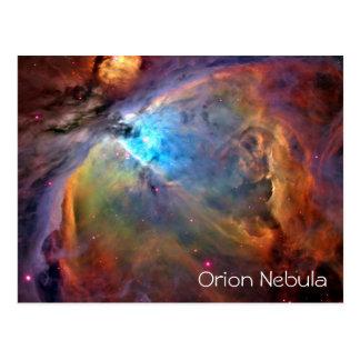 Blanc de carte postale de nébuleuse d'Orion à
