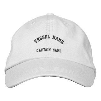 Blanc de casquette brodé par navire de capitaines casquette brodée