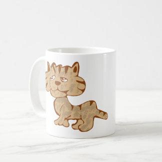 Blanc de chat de Brown tasse de classique de 11