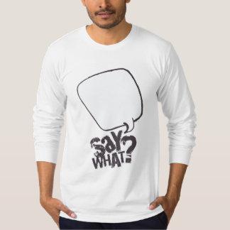 BLANC de chemise de bulle de la parole de bande T-shirt