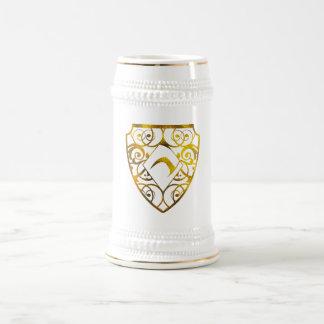 Blanc de club de diamant/or 22 once Stein Chope À Bière