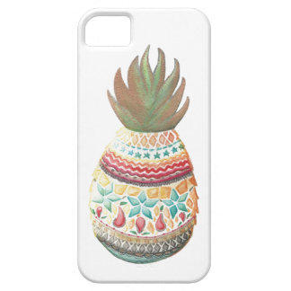 Blanc de coque iphone d'ananas de Noël