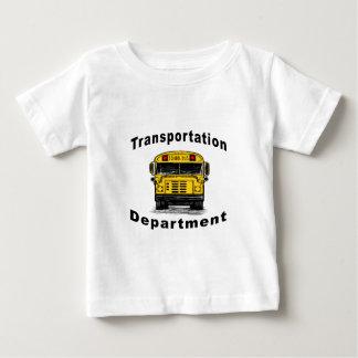 Blanc de département de transport t-shirt pour bébé
