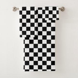 Blanc de emballage Checkered classique de noir de