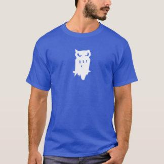 Blanc de hibou de prêt de huée d'équipe t-shirt