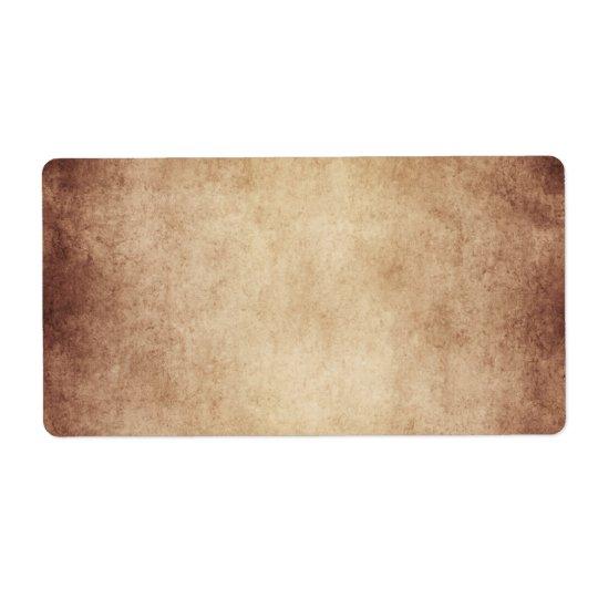 Blanc de modèle âgé par cru de papier parcheminé étiquette d'expédition