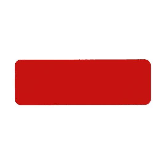 Blanc de modèle customisé par couleur rouge de étiquette d'adresse retour