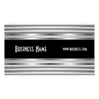 Blanc de noir d'argent de regard en métal de carte carte de visite standard