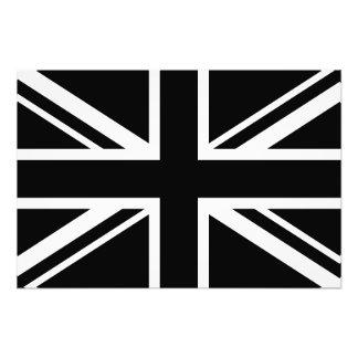 Blanc de noir de drapeau de l'Angleterre Impressions Photographiques