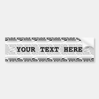 Blanc de noir de motif d'hypnose + votre texte autocollant de voiture