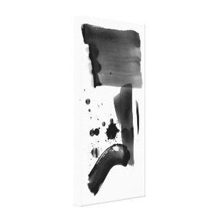 Blanc de noir d'expressionisme abstrait toiles