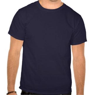 Blanc de papa superbe et bleu rouges t-shirts