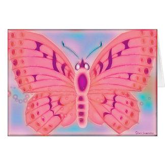 BLANC de papillon de souhaits Cartes De Vœux