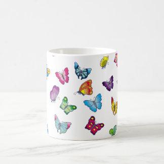 blanc de papillon tasse de classique de 11 onces