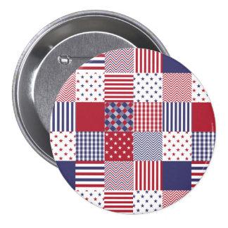 Blanc de patchwork americana des Etats-Unis et Badges