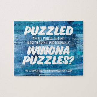Blanc de puzzle de Winona Minnesota sur l'arrière