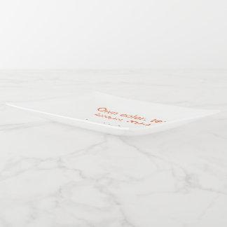 Blanc de rectangle de plateau de bibelot grand uni