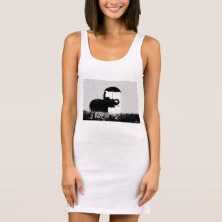 Blanc de robe de réservoir du Jersey d'art de