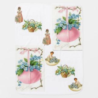 blanc de rose de couverture d'ouatine de bébé de couvertures pour bébé
