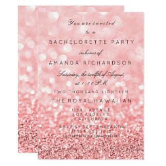 Blanc de rose de rose de scintillement de Birthay Carton D'invitation 11,43 Cm X 15,87 Cm