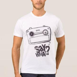 BLANC de T-shirt de bulle de la parole de bande