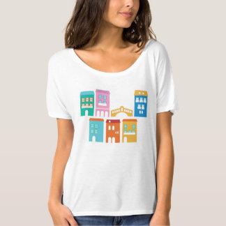 Blanc de T-shirt de concepteurs avec la maison de