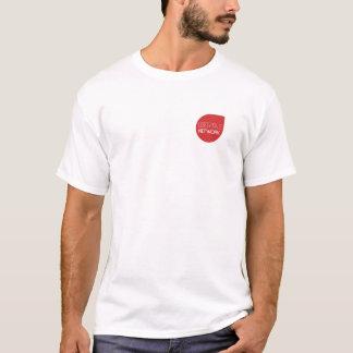 """Blanc de T-shirt de Libertas """"un réseau de YouTube"""