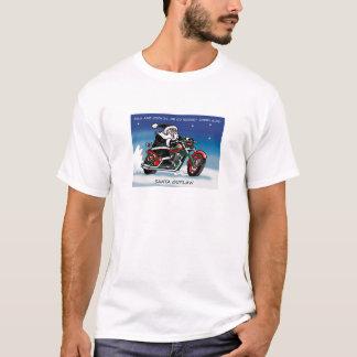 Blanc de T-shirt de Père Noël Outlaw©