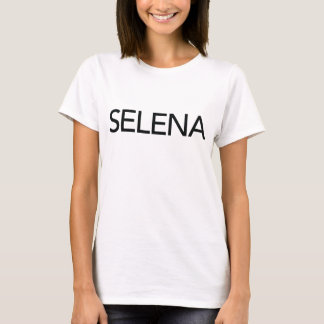 Blanc de T-shirt de Selena